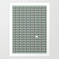 Lot of whales Art Print