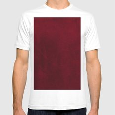 VELVET DESIGN - red, dark, burgundy Mens Fitted Tee MEDIUM White