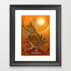 Solar owls -sun  Framed Art Print
