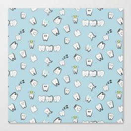 Teeth pattern Canvas Print