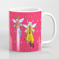 marty mcfly Mugs featuring Doc and Marty McFly Go Back to The Future by ladykerry