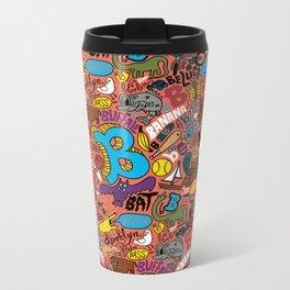"""""""B"""" Pattern Metal Travel Mug"""