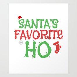 Santas Favorite Ho Ugly Christmas Sweet Gift Art Print