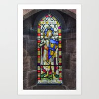 stained glass Art Prints featuring Stained Glass by Ian Mitchell