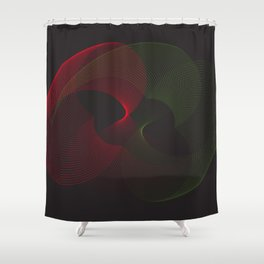 """Neon lights"" minimal geometric Shower Curtain"