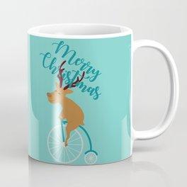Mr Reindeer having Fun with his Penny-farthing Bicycle Coffee Mug