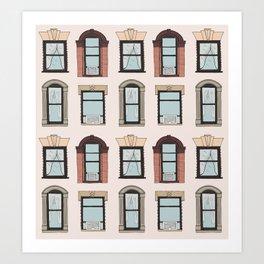 Upper West Side Windows Art Print