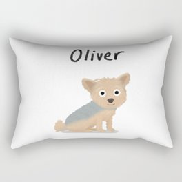 """Custom Dog Art """"Oliver"""" Rectangular Pillow"""