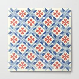 Mediterranean Mosaic Metal Print