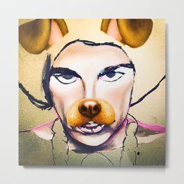 Prince with Doggie Filter Metal Print