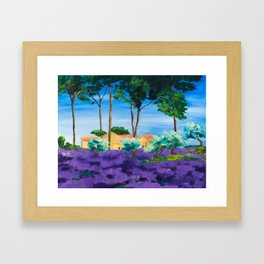 Among the Lavender Framed Art Print