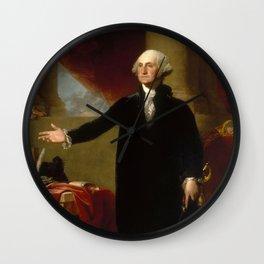 Vintage George Washington Portrait Painting 2 Wall Clock