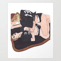 badwood Art Prints featuring Too Bad for you by Reza Zabardast