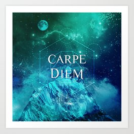 CARPE DIEM GEOMETRY Art Print