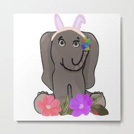 Funny easter bunny Metal Print