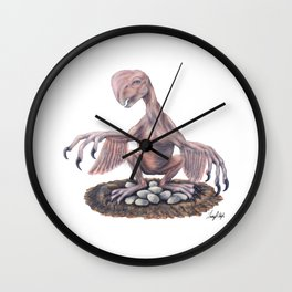 Pink Oviraptor Wall Clock