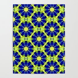 Blue Green vector abstract floral background Poster
