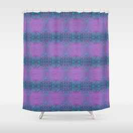 Dreamy turquoise and purple spirals  Shower Curtain