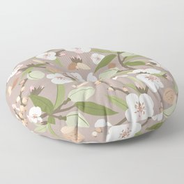Almond orchard Floor Pillow