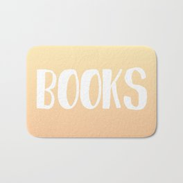 Books (Sunset colors) Bath Mat