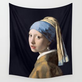 Girl with a Pearl Earring, Johannes Vermeer, 1665 Wall Tapestry