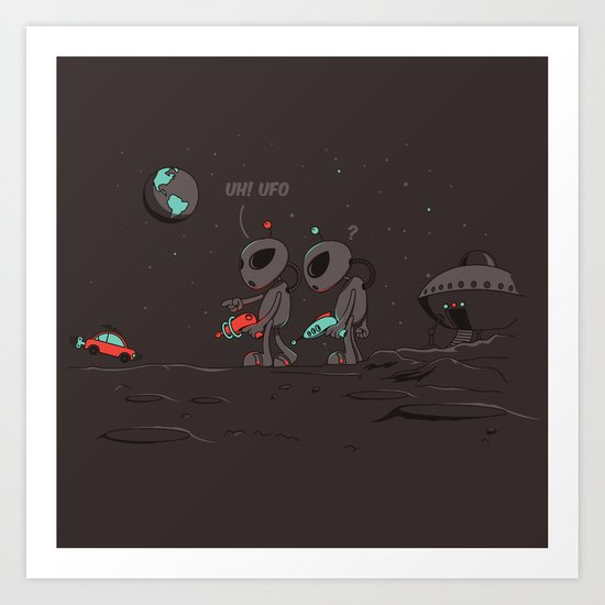 Uh UFO! Art Print