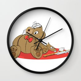 Teddy Revamp Wall Clock
