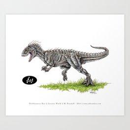 Jurassic World - Indominus Rex (I-Rex) Art Print