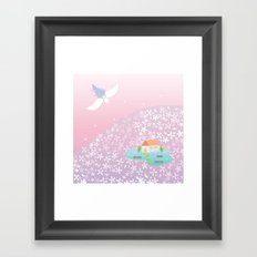 flower hill Framed Art Print