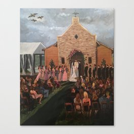 Williams-Whittle Wedding in Houston TX Canvas Print