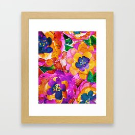Watercolor Flower Power Framed Art Print