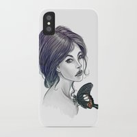 helen iPhone & iPod Cases featuring The Red Helen by pandatails