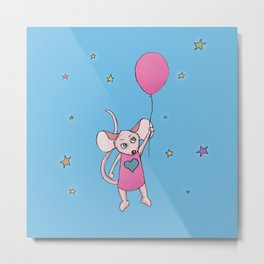 Michelle the mouse Metal Print