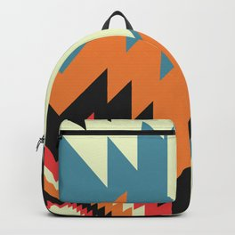 Navajo shapes in orange and blue Backpack