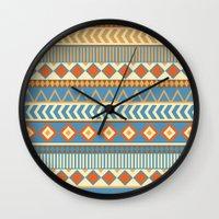 ethnic Wall Clocks featuring ethnic by Kozza