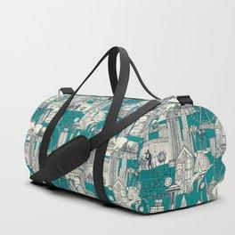 Seattle indigo teal Duffle Bag