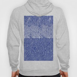 sarasa paisley all over in blues Hoody