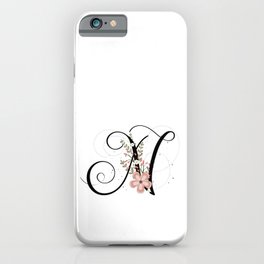 Letter N of the alphabet iPhone Case