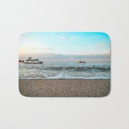 OCEAN - WAVE - RUNNERS - JET SKI - SEA - PHOTOGRAPHY Bath Mat