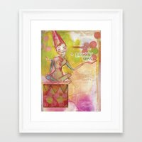 jane davenport Framed Art Prints featuring Lucky Miss by Jane Davenport by Jane Davenport