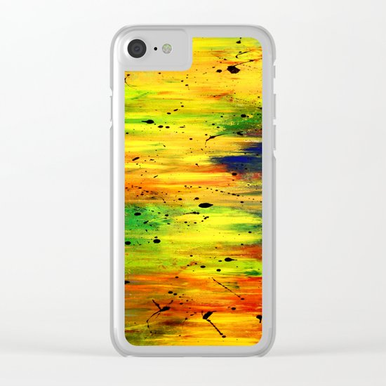 Nature sunny sea view abstract Clear iPhone Case