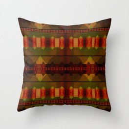 """""""Full Colors Tribal Pattern"""" Throw Pillow"""