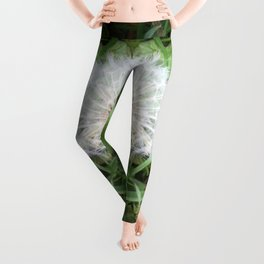 Green Bird (with Fascinator) Leggings