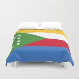 Flag of Comoros Duvet Cover