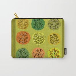 Tidy Trees All In Pretty Rows Carry-All Pouch
