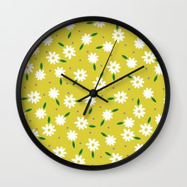 spring, yellow Wall Clock