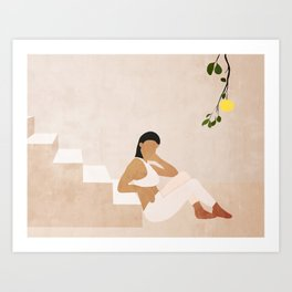 Moment of rest Art Print