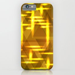Golden cross on a yellow metal background. iPhone Case