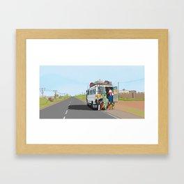 Senegal Bus Framed Art Print