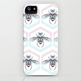 Queen Bee Cool Colors iPhone Case